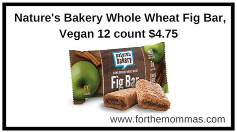 Nature 39 S Bakery Whole Wheat Fig Bar Raspberry Box Of 6 nature s bakery whole wheat fig bar vegan 12 count 4 75