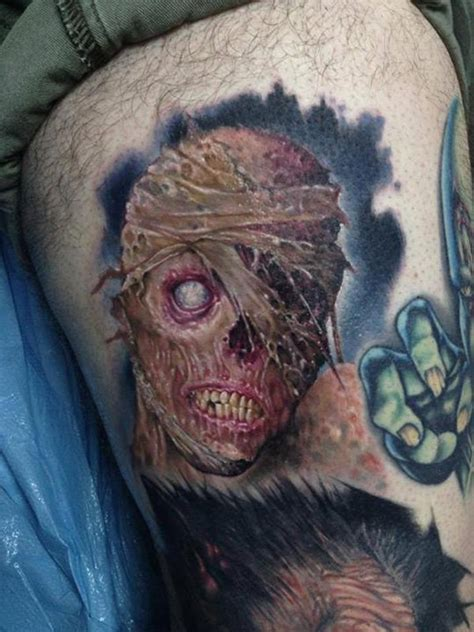 zombie tattoo 30 scary tattoos ideas 3d