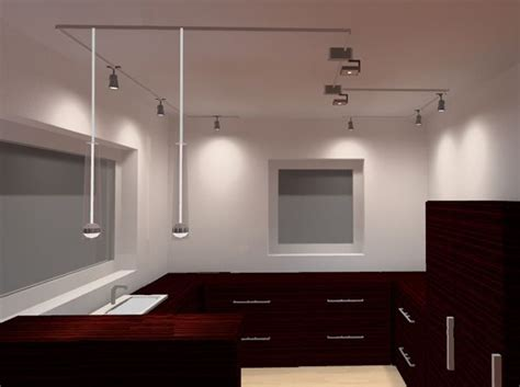 lichtdesign kueche mit schienensystem deckenlampen design