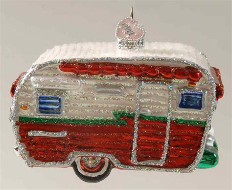 merck family s old world christmas ornament travel trailer