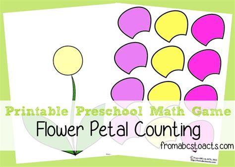 can you laminate flower petals preschool math flower petal counting from abcs