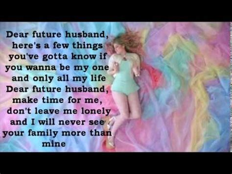 song for hubby meghan trainor dear future husband lyrics