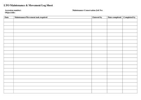 Facility Maintenance Log And Maintenance Checklist Template Vlashed Maintenance Spreadsheet Template