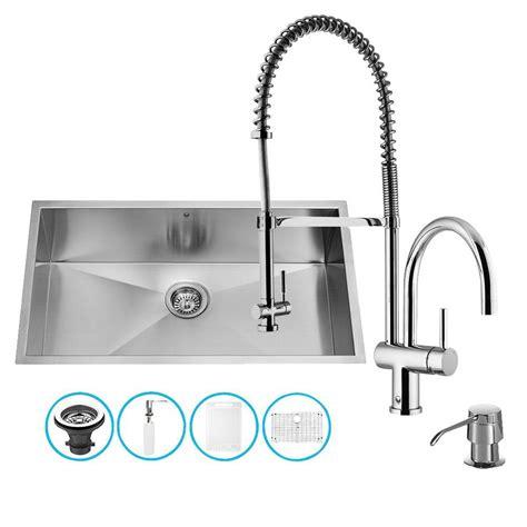 Kitchen Sink Strainer Bowl Vigo Undermount Stainless Steel 29 In Bowl Kitchen Sink With Grid And Strainer