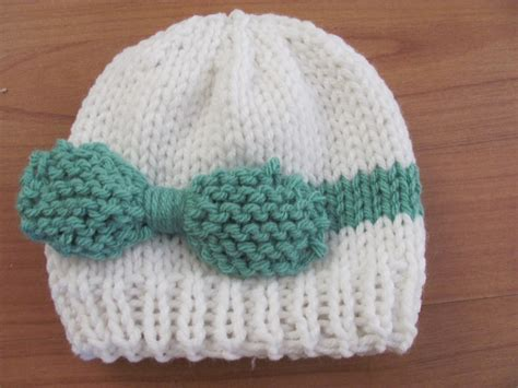 knit cap pattern twenty something knitted baby bow hat