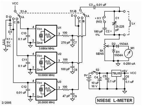inductance tester schematic n5ese s rf inductance meter 20050215