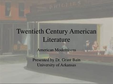themes in american literature 20th century 20th century american literature