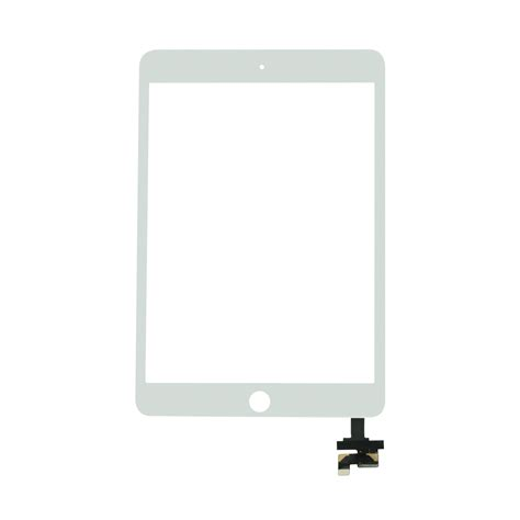 mini 3 white touch screen digitizer with ic chip