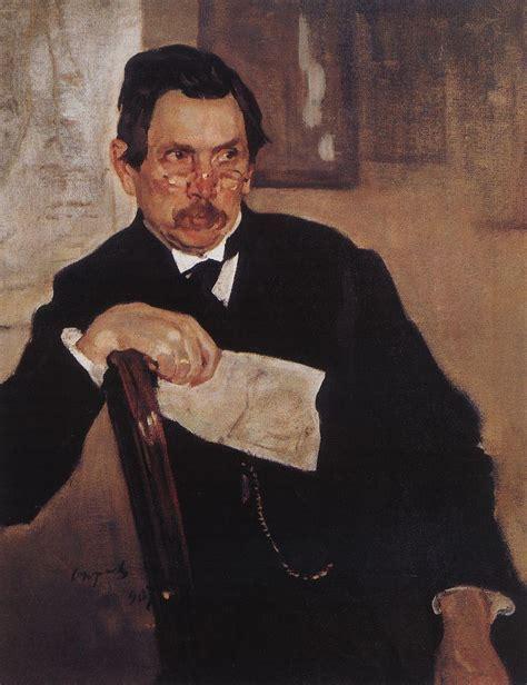 valentin serov portrait of a kasyanov valentin serov wikiart org