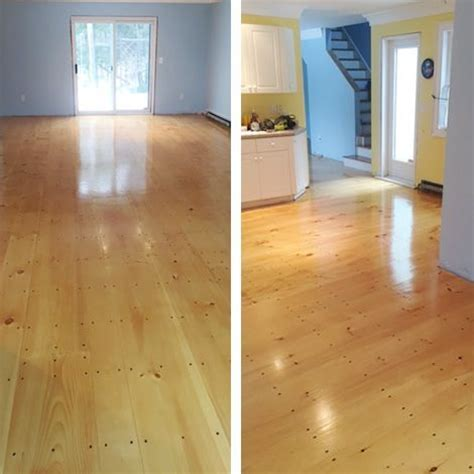 These pine floors are looking great with our Waterlox