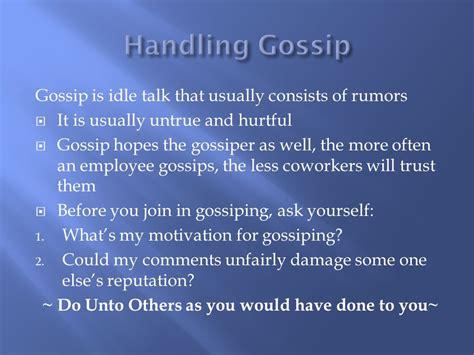 define hurtful gossip developing a positive attitude ppt video online download