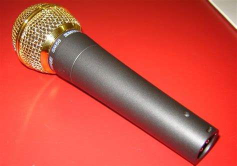 Shure Classic Handmade Quality - shure sm58 microphone with gold plated grille rw harmonicas