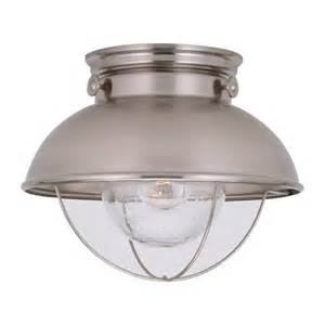 outdoor ceiling light fixture sebring outdoor brushed stainless flush ceiling light sea