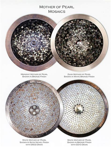 linkasink mother of pearl sink linkasink undermount mosaic bathroom sinks