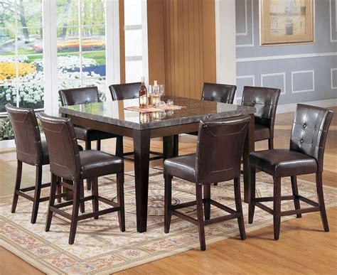 marble top bar height table acme furniture canville 07059 canville marble top counter height table del sol