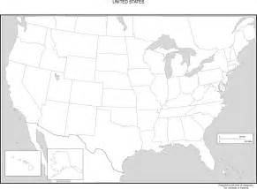 black and white map of us and canada united states blank map