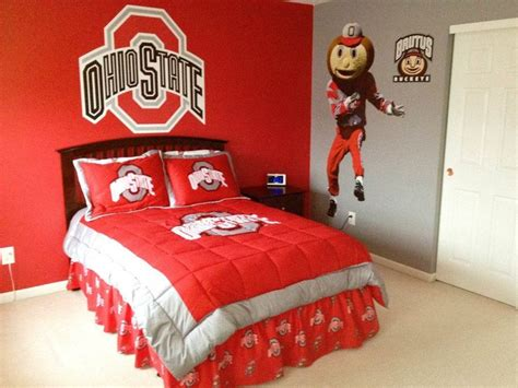 ohio state bedroom the ohio state room i designed painted and decorated for