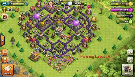 layout th7 farming base coc th 7 terbaik terkuat untuk war dan farming tahun