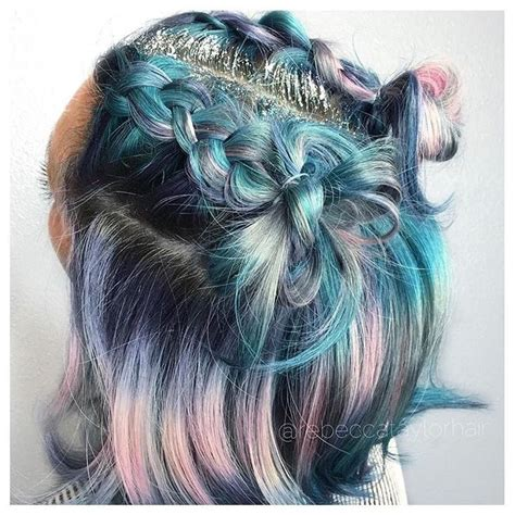 colorful short hair styles 1115 best rainbow of hair images on pinterest hairstyles