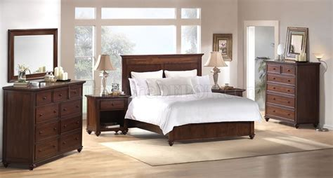espresso bedroom furniture espresso finish modern bedroom set with panel bed