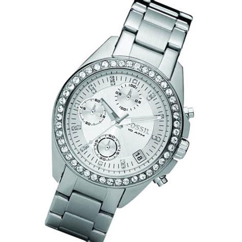 fossil uhr decker fossil uhr damenuhr chronograph es2681 decker silber mit