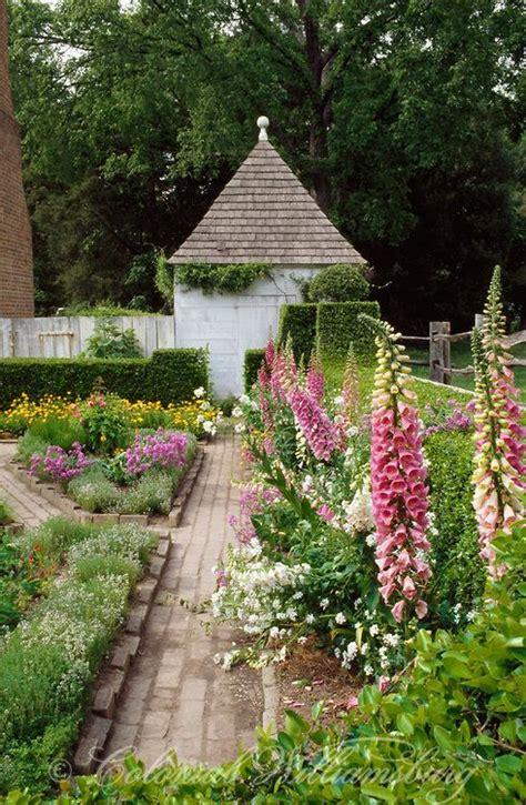 the blair house garden in summer colonial