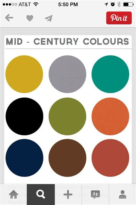 mid century color schemes mid century colors new york new home pinterest
