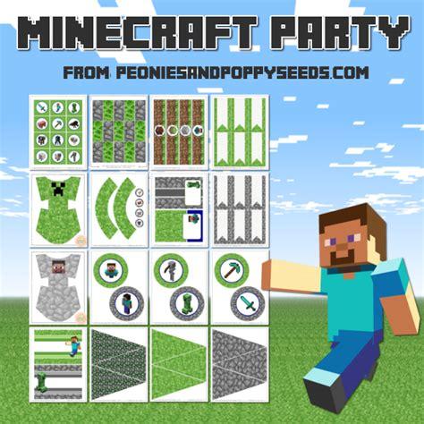 imprimible de minecraft para cumpleanos kits para imprimir gratis kit de minecraft para imprimir gratis ideas y material