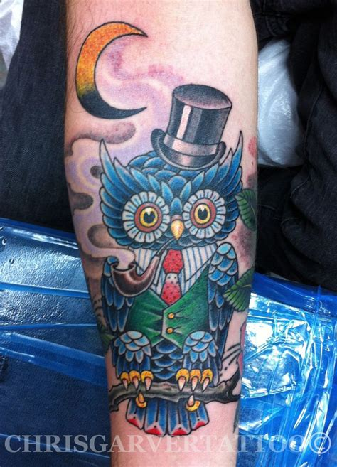 chris garver tattoo chris garver mr owl tattoos