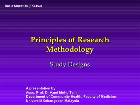 Types Of Research Methodology Mba by Research Methodology Study Designs