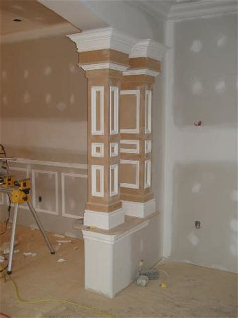 interior columns as interior columns custom trim trim tech custom pillars page