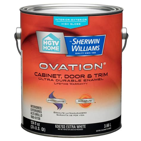 gloss paint shop hgtv home by sherwin williams ovation white high