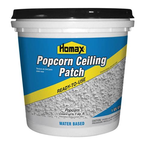 Patch Popcorn Ceiling by Homax 1 Qt Premixed Popcorn Patch 85424 The Home Depot