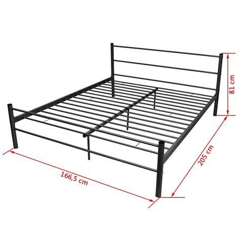 160x200 bed frame uk vidaxl bed frame metal black 160x200 cm vidaxl co uk