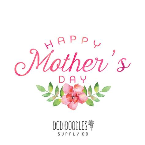 mothers day clipart happy s day overlay floral watercolor overlay