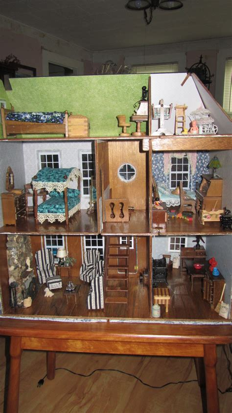 vintage doll house vintage victorian dollhouse electrified collapsible fully furnished collectors weekly