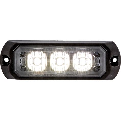 flashing lights for snow plow trucks buyers 8891401 3 2 5 quot 3 led clear rectangular surface