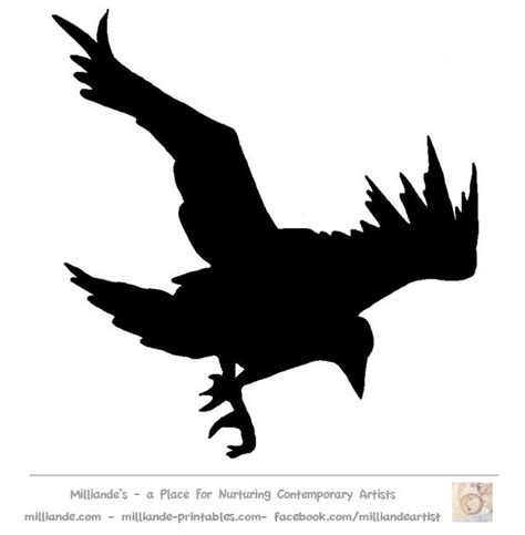 bird silhouette stencil template crow at www milliande
