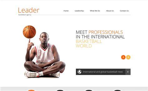 Basketball Responsive Website Template 46918 Basketball Team Website Template