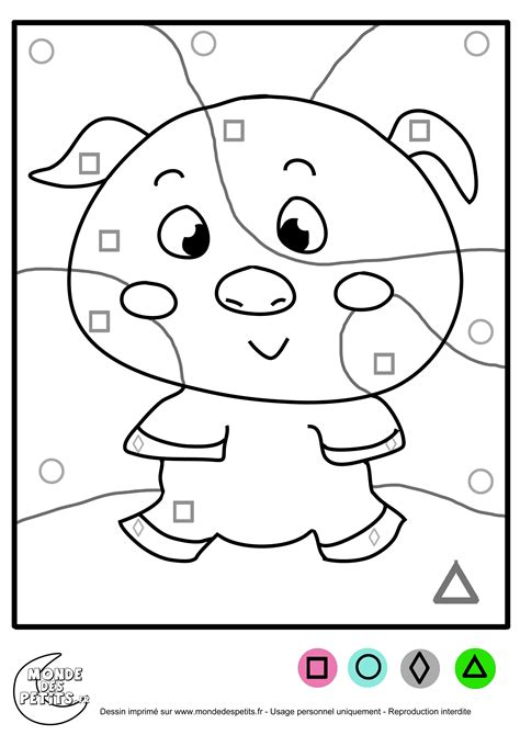 Coloriage magique moyenne section maternelle | A co