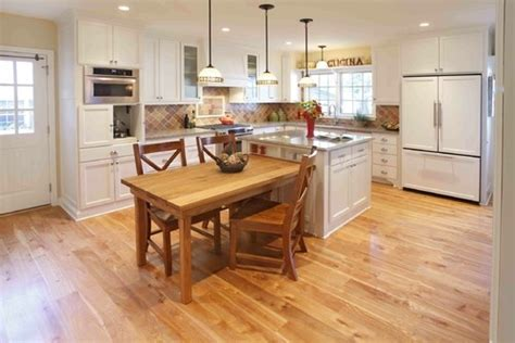 kitchen islands with tables attached table attached to island kitchen pinterest