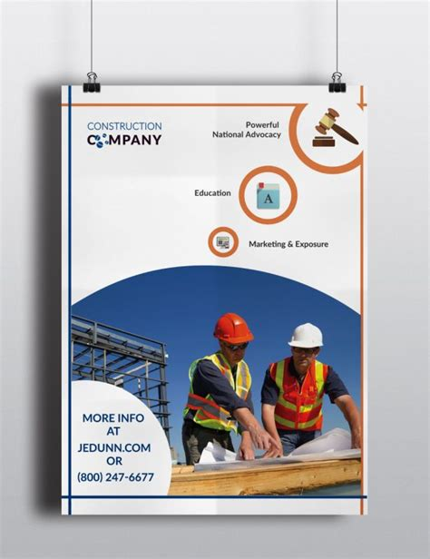 design poster company poster template for construction company stationary order