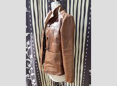 Womens-Distressed-Leather-Jacket Leather Jackets For Women Light Brown