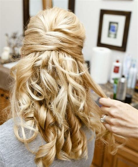 hairstyles curly hair half up half down 32 overwhelming bridesmaids hairstyles pretty designs