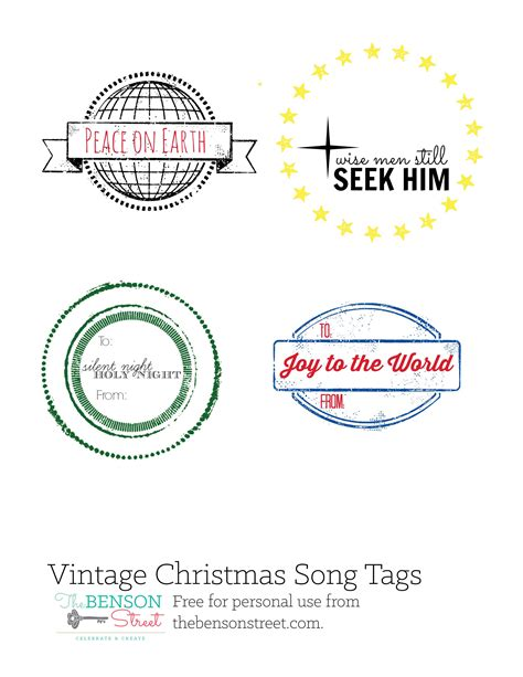 christmas gift song vintage gift tags s niche