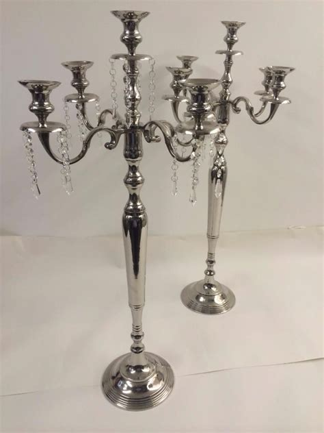 large candelabra large 90cm candelabra glass drops 2 styles wedding