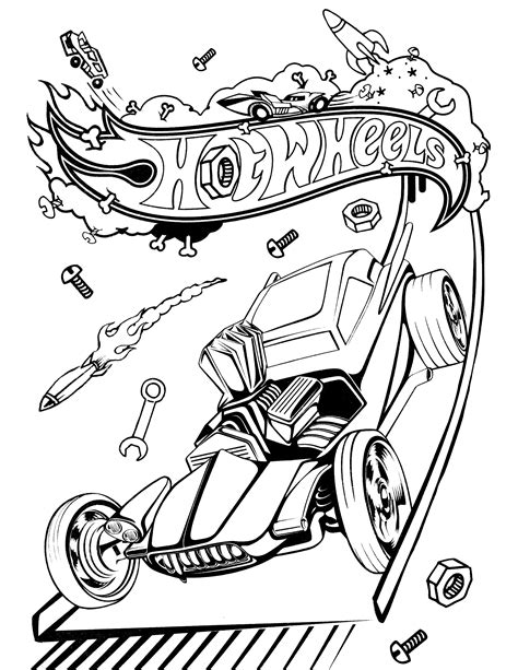 Coloring Page 24 by Wheels Coloring Pages Hotwheels Coloring Page 24