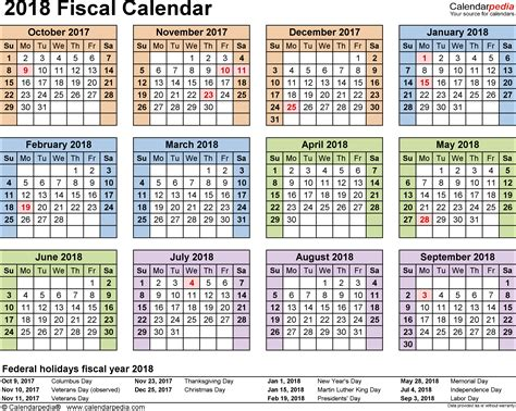 fiscal year calendar template fiscal calendars 2018 as free printable word templates