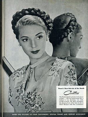 1940s french braids plait world war 2 32 best 1945 makeup and fashion images on pinterest