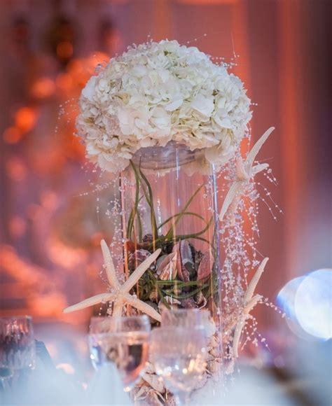 Seashore Home Decor by Picture Of Amazing Beach Wedding Centerpieces